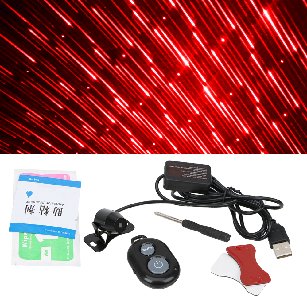Image 3 - FORAUTO Car Atmosphere Ambient Star Light DJ Colorful Music Sound Lamp Remote Control Spotlight Voice Control LED Light USB Plug-in Decorative Lamp from Automobiles & Motorcycles