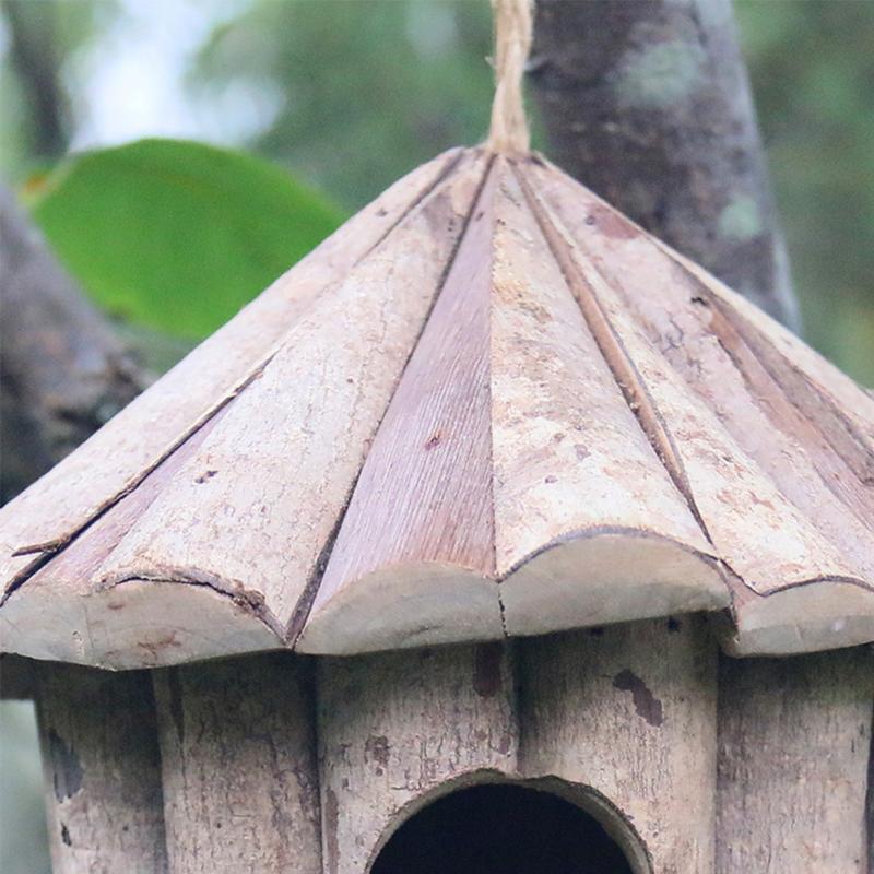 Cabane maison jardin boîte en bois bricolage jouet pour animaux de  compagnie nid d\'oiseau suspendu Cage belle à la main en plein air nid  d\'oiseau ...