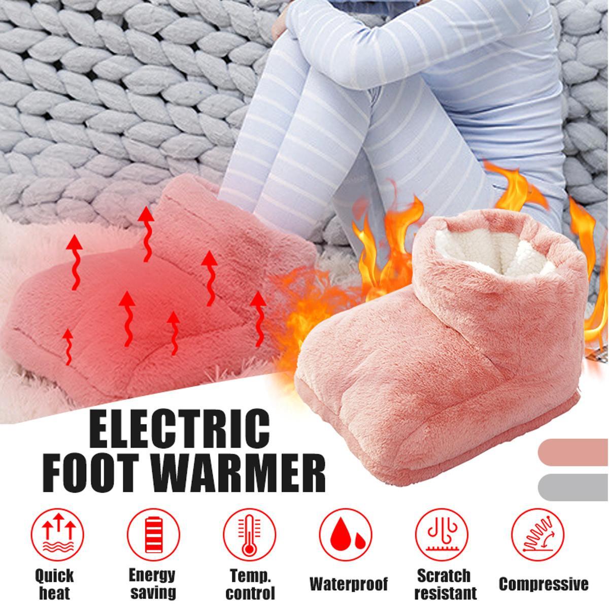 Electric Warm Pad Foot Warmer Electric Heating Pad Electric Heating Feet Shoe Warmer Slippers Electric Slipper Heat Pad USB