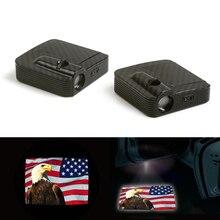 цена на Logo Light Ghost Shadow Projector Car Door Courtesy Laser LED Fit For America Flag 12V