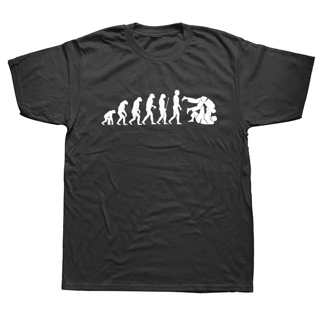 b9eeabe271b8 New Fashion Evolution Judo Aikido MMA Tshirt Man Summer Print Cotton Short  Sleeve Male O-neck Personalized T-shirt men s Shirt