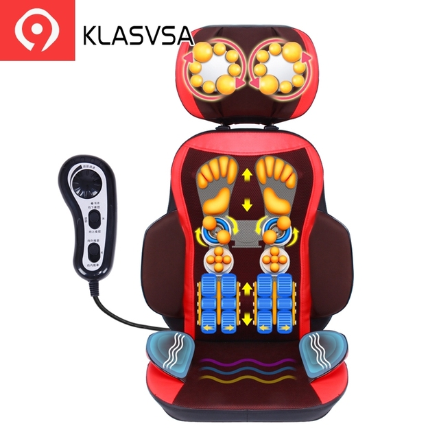 KLASVSA Electric Vibration Back Massager Chair Pad Shiatsu Neck Cevical Lumbar Waist Kneading Cushion Home Office  sc 1 st  AliExpress : shiatsu massage chair pad - lorbestier.org