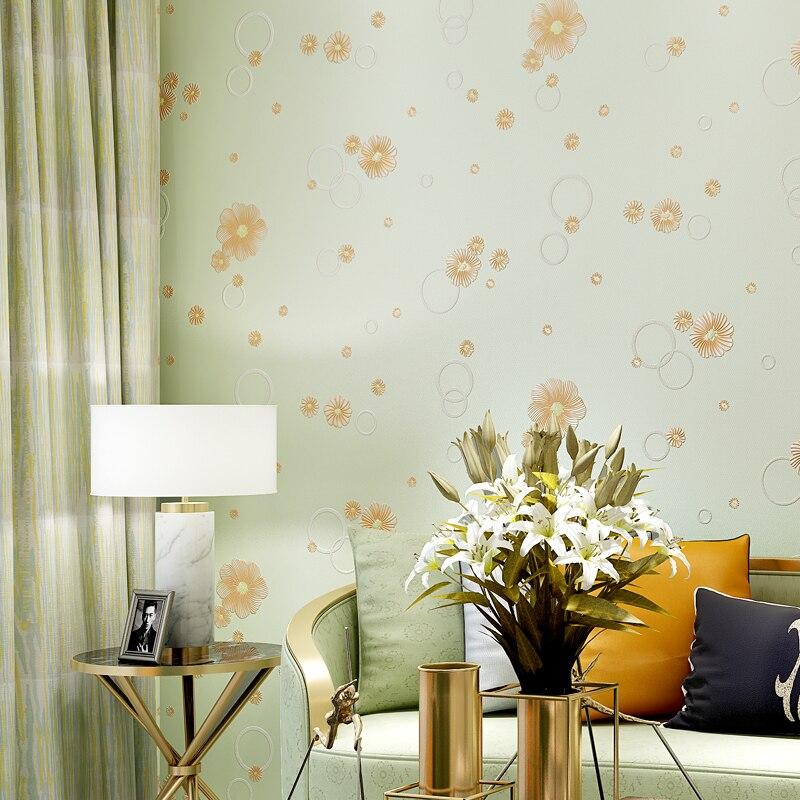 Coréen doux petite fleur papier peint Mural bébé fille chambre papier peint 3d en relief papier peint auto-adhésif enfants chambre Decorqz081 - 3