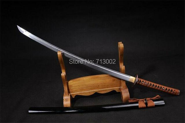 US $118 68 8% OFF|Handmade practice Katana Japanese Samurai Sword Carbon  steel Blade Sabre Tachi -in Swords from Home & Garden on Aliexpress com |