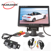 Night Vision Camera Kit Parking System for 24V Truck Coach Bus 7 inch TFT LCD Wireless Rear View Monitor