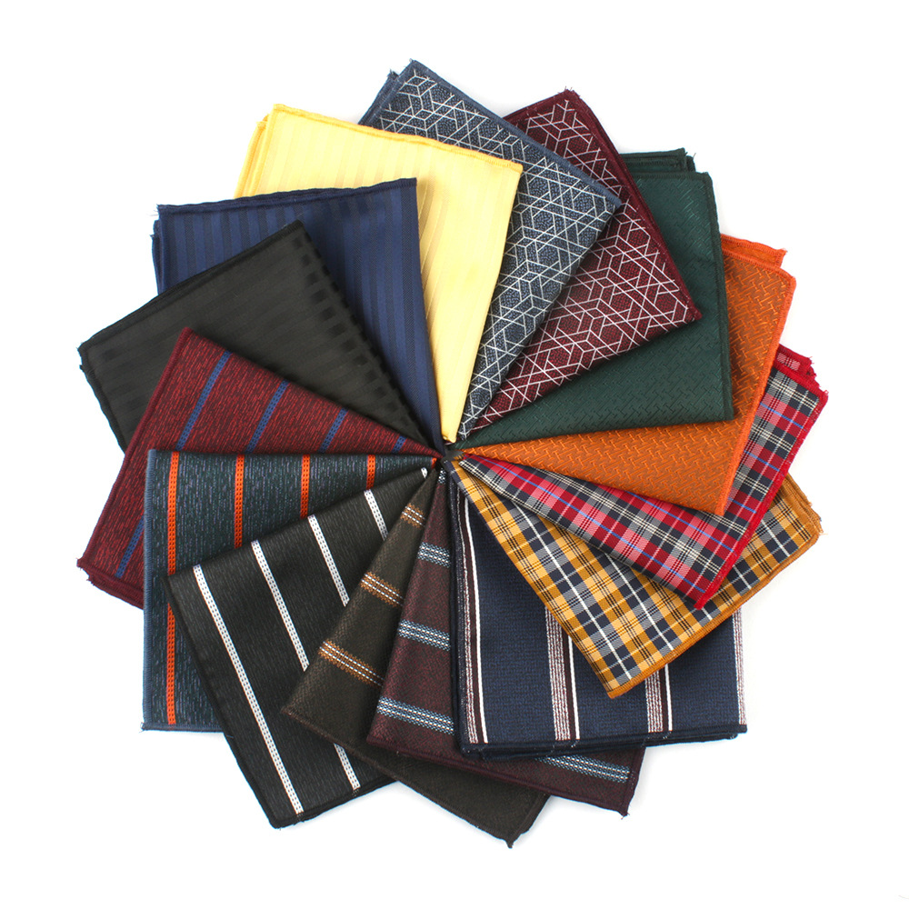 Mantieqingway Mens Handkerchief Pocket Square For Mens Business Pocket Towel Classic Formal Small Hankies For MensLadiesChest To