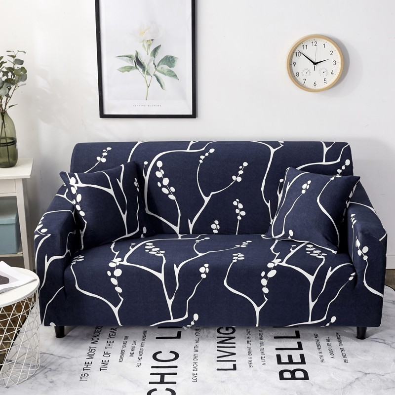 Aliexpress.com : Buy Tree Printed Blue Sofa Cover Elastic