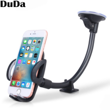DuDa Universal Car Phone Holder Long Arm Suction Cup Dashboard Windshield Cellphone Accessories Mount Stand For xiaomi iphone x