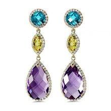 Fashion Diamond Crystal Drop Earring Classic Round Fine Jewelry Party Earring for Women Christmas Deals Bijoux En Argent Earring цена