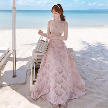 Sexy Summer Boho Dress Women Spaghetti Strap Beach Party Fashion Ladies Dresses vestidos Vetement Femme