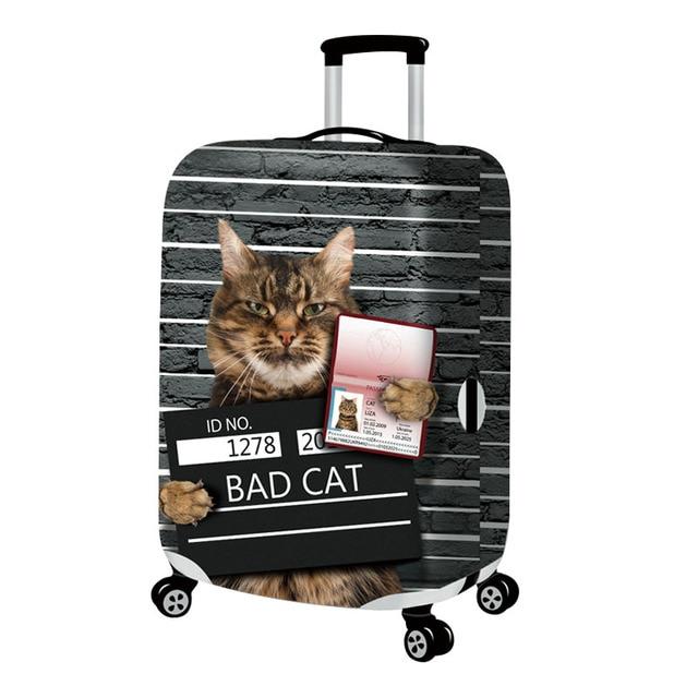 Mala gato Elástica Capa de Poeira Caso Para 18 ~ 32 polegada Senha Viagem Do Trole Da Bagagem Saco de Caixa de Proteção de Alta Qualidade acessórios