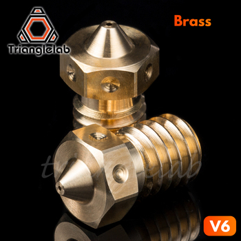 trianglelab Top quality V6 Nozzle for 3D printers hotend 4pcs/lot 3D printer nozzle for E3D hotend titan extruder prusa i3 mk3 mellow all metal nf crazy hotend v6 copper nozzle for ender 3 cr10 prusa i3 mk3s alfawise titan bmg extruder 3d printer parts