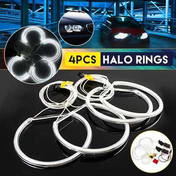 2019 vente chaude 4 pièces 130mm CCFL ange yeux Halo anneaux lumières xénon LED blanc phares ampoules ange oeil pour BMW E36 E39 E46