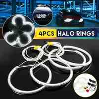 2019 Hot Sell 4pcs 130mm CCFL Angel Eyes Halo Rings Lights Xenon LED White Headlight Bulbs Angel Eye for BMW E36 E39 E46