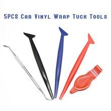 5 PCS Auto Vinyl Wrap Tuck Gereedschap Pakking Micro Zuigmond Auto Stickers Hoek Versieren Schraper voor Window Tint Toepassing