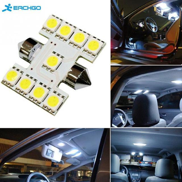 1pc 31mm Double Sharp 5050 9SMD LED Lamp Car Licence Plate Light Auto housing Interior Dome lamps Reading Lights