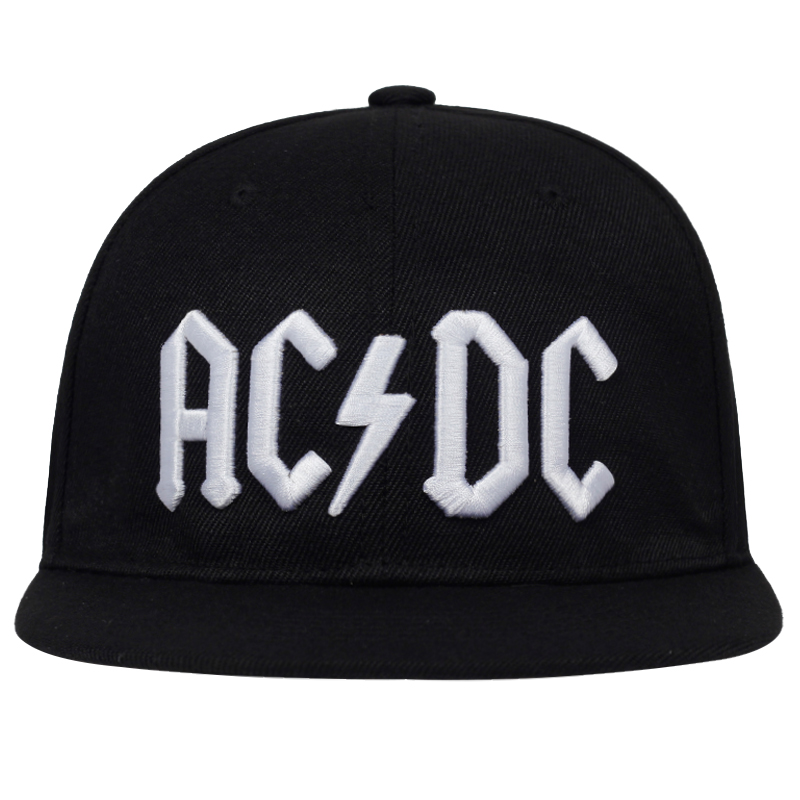 2019 New AC/DC Letter Embroidery Baseball Cap Rock Hip Hop Snapback Caps Mens Women Fashion Hat Casual DJ ROCK Dad Hats