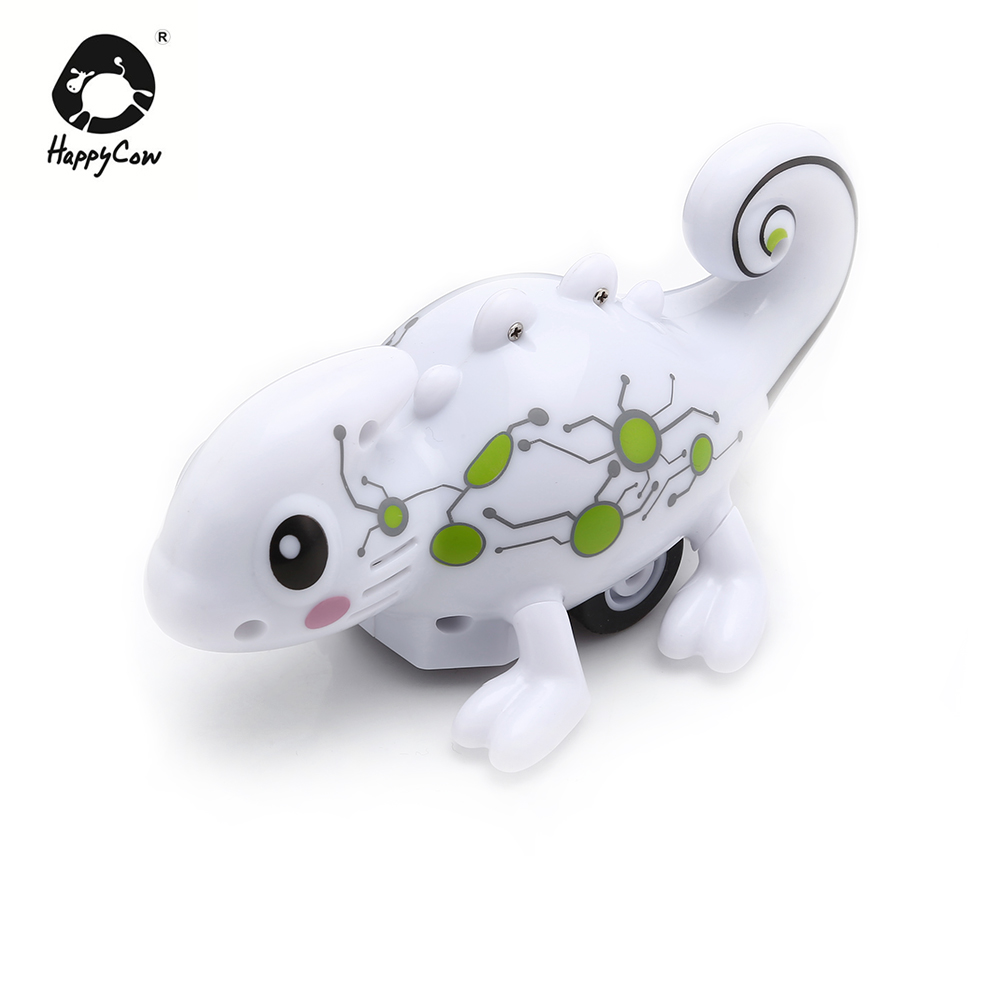 HAPPYCOW No.777-613 Tracking Pen Line Induction Electronic Chameleon Pet USB Charging Electronic Pets Toys Gift For Kids