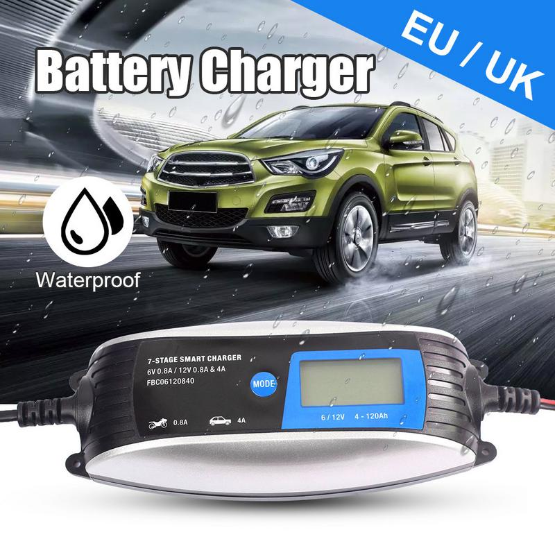 New Safe 6V 12V 0.8A 4A Car Battery Charger Fully Intelligent Repair Lead Acid Storage Charger Moto Intelligent LCD DisplayNew Safe 6V 12V 0.8A 4A Car Battery Charger Fully Intelligent Repair Lead Acid Storage Charger Moto Intelligent LCD Display