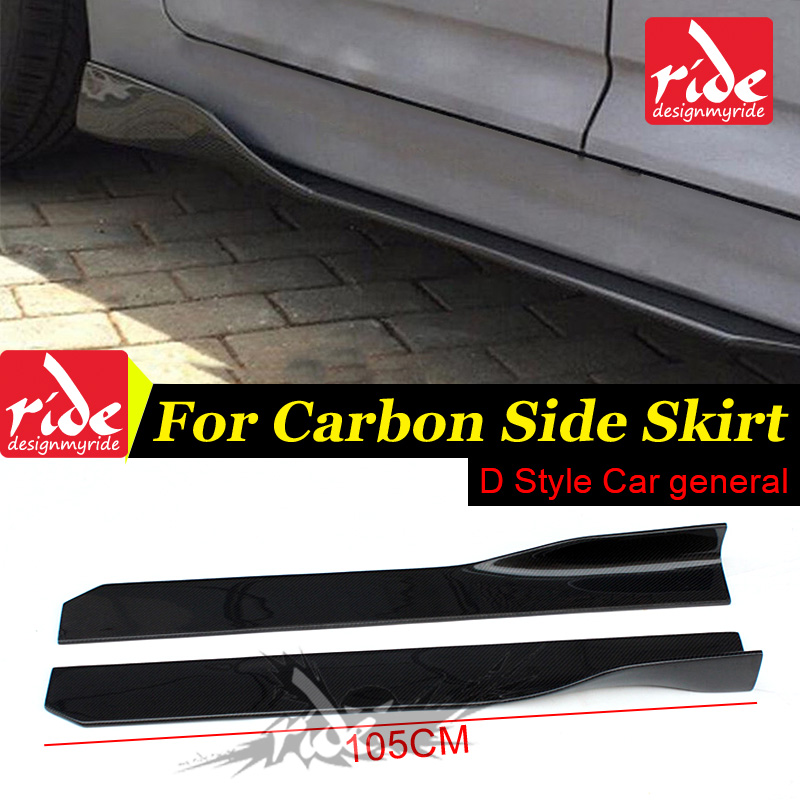 F20 Carbon Fiber Side Skirt For <font><b>BMW</b></font> F20 118i 120i 125i 128i <font><b>135i</b></font> 135is Universal Carbon Side Skirt Body Kits Car Styling D-style image