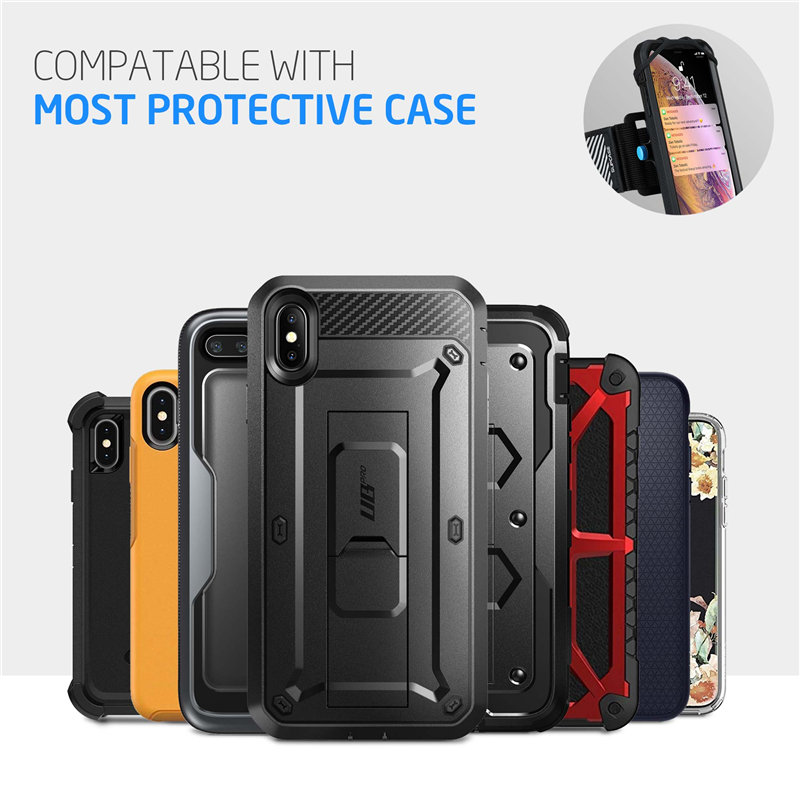 Image 5 - SUPCASE Quick Mount Running Phone Armband For iPhone X/XS Max/XR,For Galaxy Note 9/S9/S8 Plus,Detachable Workout Sports Arm Band-in Armbands from Cellphones & Telecommunications
