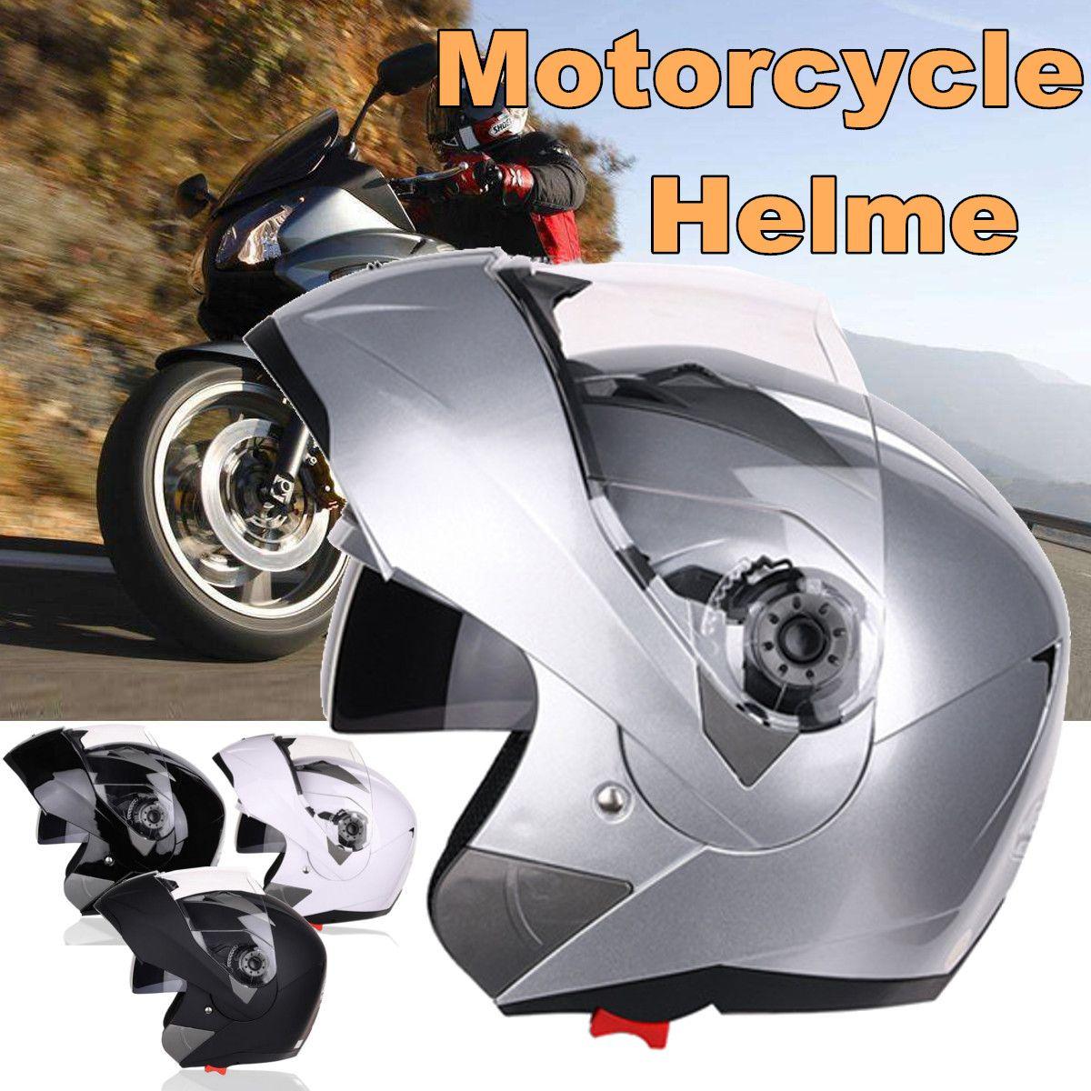 Full Face Helmet Modular Flip Up Front Motorcycle Motorbike Helmet Sun Visor Protective Gears 4 Colors