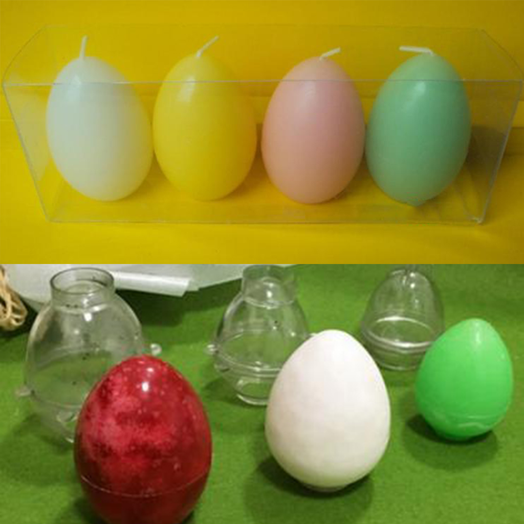 Handmade Candle Mold Egg Shape Candles Soap Mould Tool Candle Making Crafts