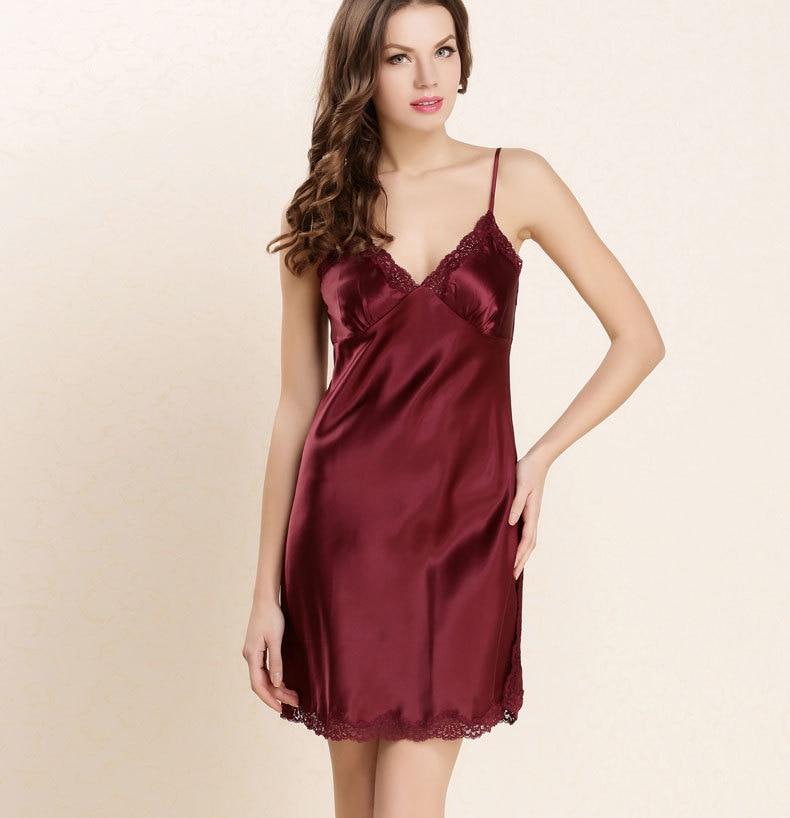 Silk Gowns For Women: Top Grade 100% Pure Silk Nightgowns Women Sexy Sleepwear
