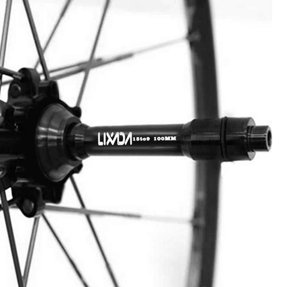 Lixada دراجة الجبهة عجلة الظهور المحور 15 ملليمتر إلى 9 ملليمتر سريعة الإصدار أسياخ محول تحويل MTB محاور الجبهة أنبوب رمح