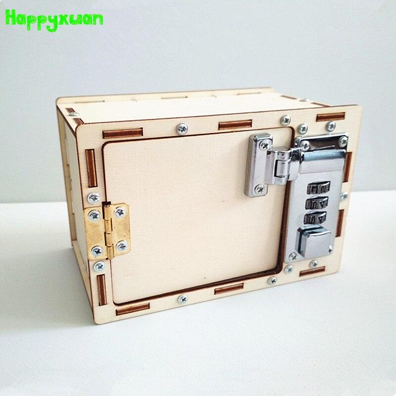 Happyxuan mot de passe boîte bricolage enfants Science école projets expérience Kits garçon physique plaisir jouet Invention innovation tige éducation