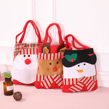 10 Pcs/Lot Cartoon Style Santa Claus Elk Christmas Storage Gift Bags Reticule Presents Xmas Candy Bag Decorations 2018