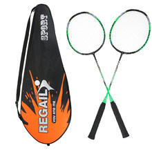 2 Player Badminton Bat Replacement Set Ultra Light Carbon Fiber Badminton Racquet with Bag(China)