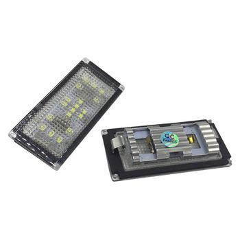 2 sztuk dedykowane dekodowania podświetlanie LED do rejestracji tablicy rejestracyjnej światła montaż bagażnik bagażnika pojemnik na bagaże światło do BMW E66 tanie i dobre opinie miling Iso9001 -inch 0 2kg Uchwyt tablicy rejestracyjnej 0 2a 1 5w 10000h 6000