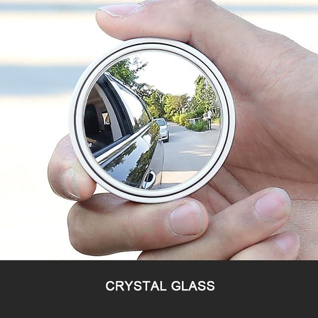 2pcs/set Car Blind Spot Mirror 360 Degree Adjustable Circular Blind Spot Mirror for Parking Rear View Mirror