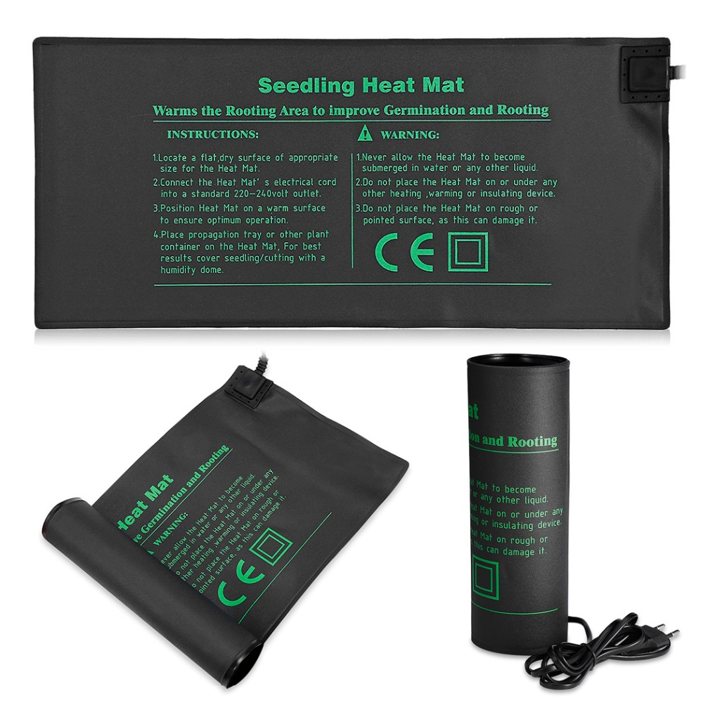 Durable Seedling Heat Mat Plant Seed Germination Propagation Clone Starter Pad Warm Hydroponic Heating Pad 52 X 24cm
