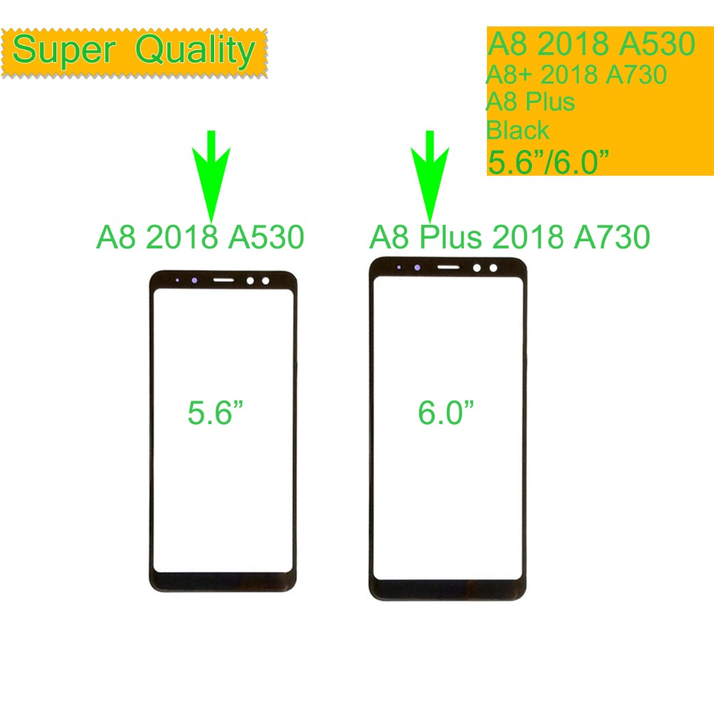 10Pcs/lot For Samsung Galaxy A8 Plus 2018 Touch Screen Front Glass Panel A530 ASM-A530F TouchScreen Outer Lens A730 SM-A730F