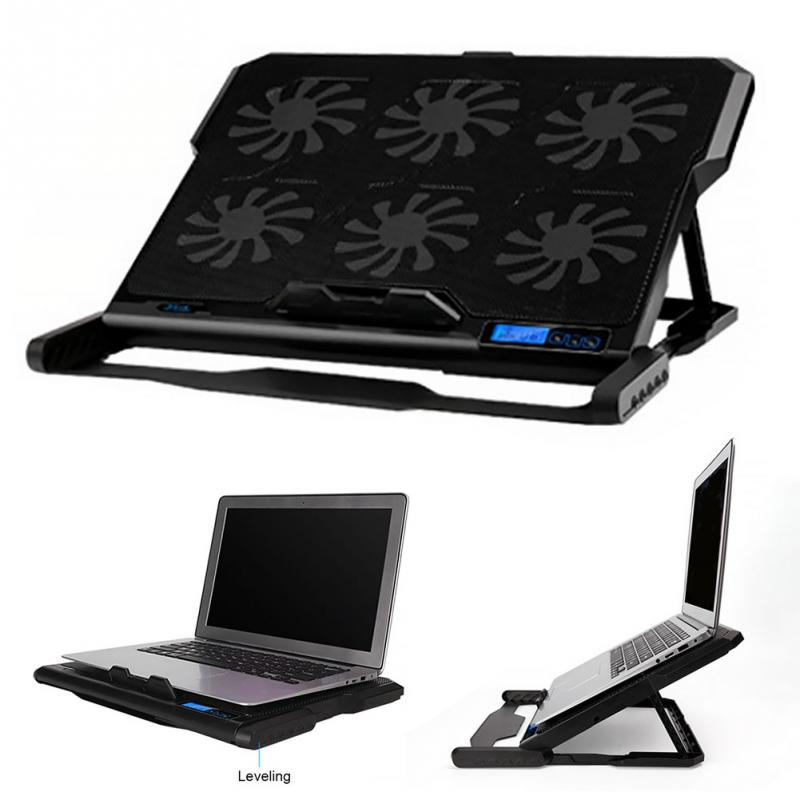 Laptop Cooler Pad 2 USB Port slide-proof <font><b>stand</b></font> <font><b>Notebook</b></font> Cooling Fan with light for 15.6 <font><b>17</b></font> inch Computer <font><b>stand</b></font> #2 image