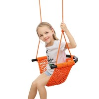 New Arrivals Safety Cotton Rope Hammock Hand woven Swing Set Bedroom Children Swing Colorful Outdoor Swing Hanging Chair