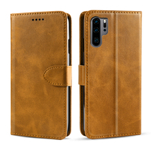 For Huawei P30 Pro Lite Case Vintage Retro Calf PU Leather Flip Stand Wallet Cover Card Holder