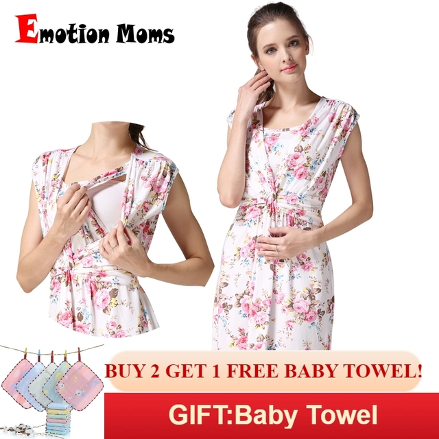 8e545a8f0a114 Emotion Moms Maternity clothing Maternity Dresses Breastfeeding clothes  Nursing Dress pregnancy clothes for pregnant women