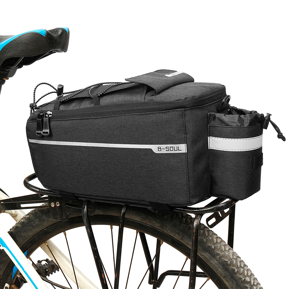 Storage Removable Carrier Rear Rack With Reflective Strips Bicycle Bag Back Seat