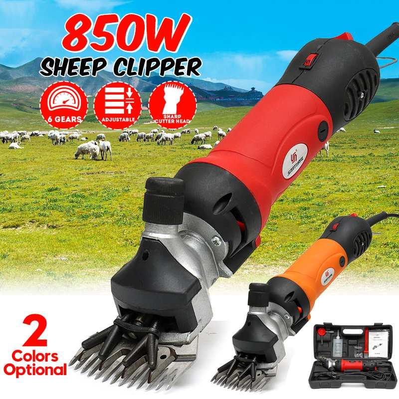 850W 220V 6 vitesses vitesse électrique mouton chèvre cisaille tondeuse ferme cisailles coupe laine ciseaux coupe Machine avec boîte