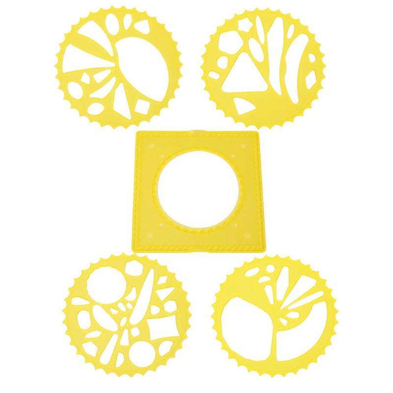5 Teile/los Spirograph Zeichnung Spielzeug Kinder Diy Zeichnung Zubehör Kinder Malerei Verriegelung Getriebe Räder Set Lernen Bildung
