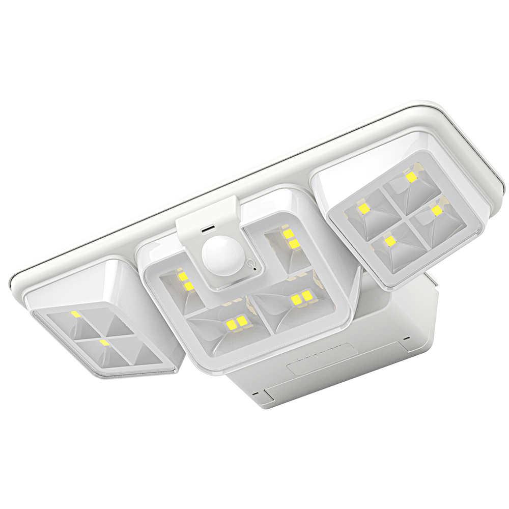 Солнечный свет сада 3,2 W 16 светодиодный солнечной энергии стены лампа наружного освещения Чувствительная PIR датчик движения Патио двор