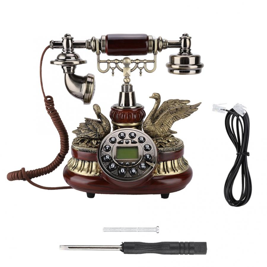 Telefono inalambrico Vintage Retro Telephone Rotary Dial Antique Landline FSK/DTMF Office Home Auto IP telephone portable