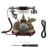 Telefono inalambrico Vintage Retro Telephone Rotary Dial Antique Landline FSK/DTMF Office Home Auto IP telephone portable