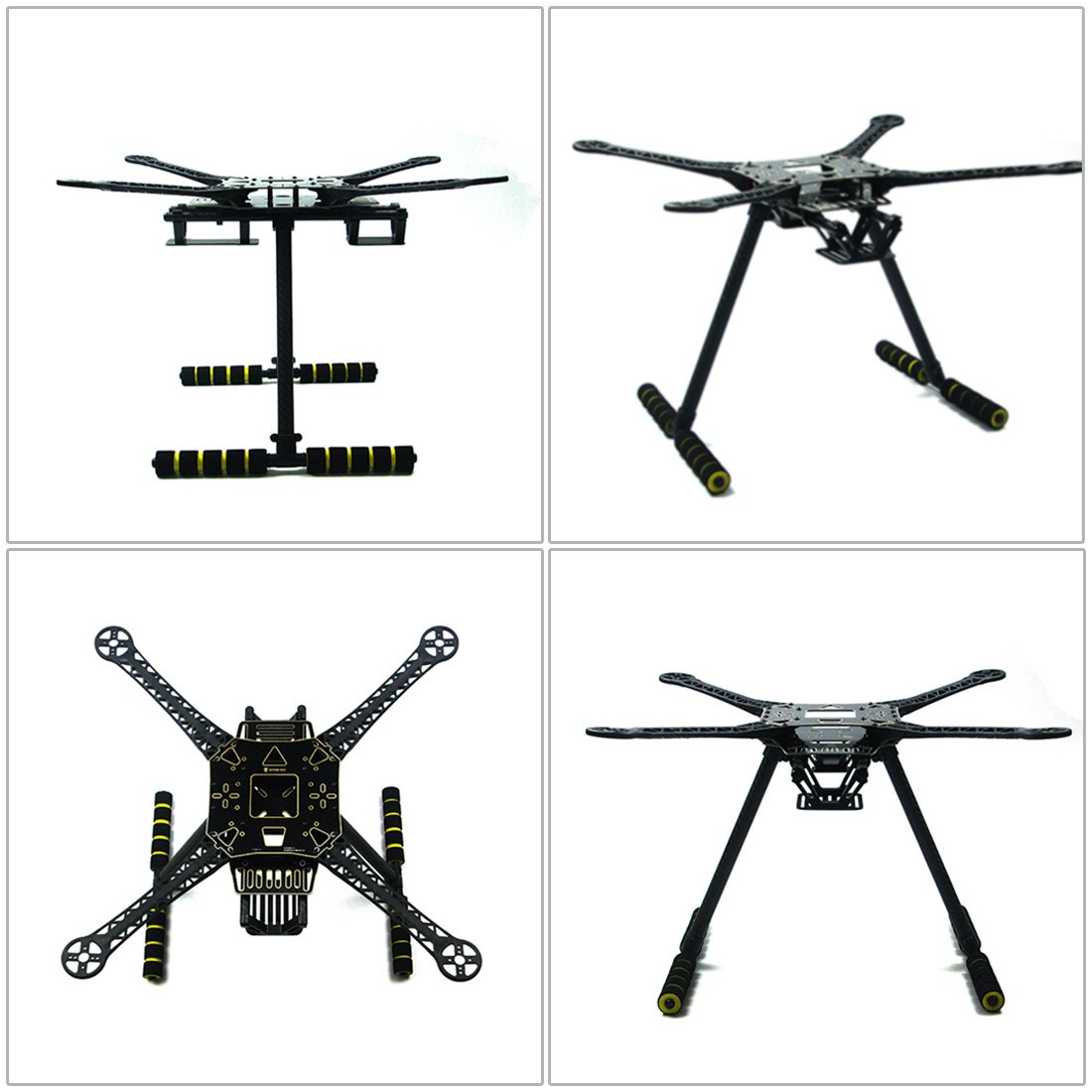 DIY RC Drone Full Kit 4 Axle S600 Frame PIX 2.4.8 Flight Control Buzzer Alarm FS i6 Transmitter Motor GPS with Battery Charger - 2