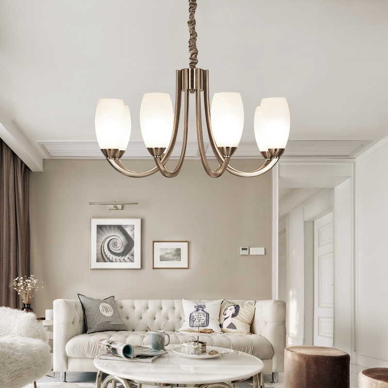 Ditoon Post Modern Led Chandelier Nordic Lighting Living Room Bedroom  Design Decor Calla Lily Glass Iron White Bronze Lusters