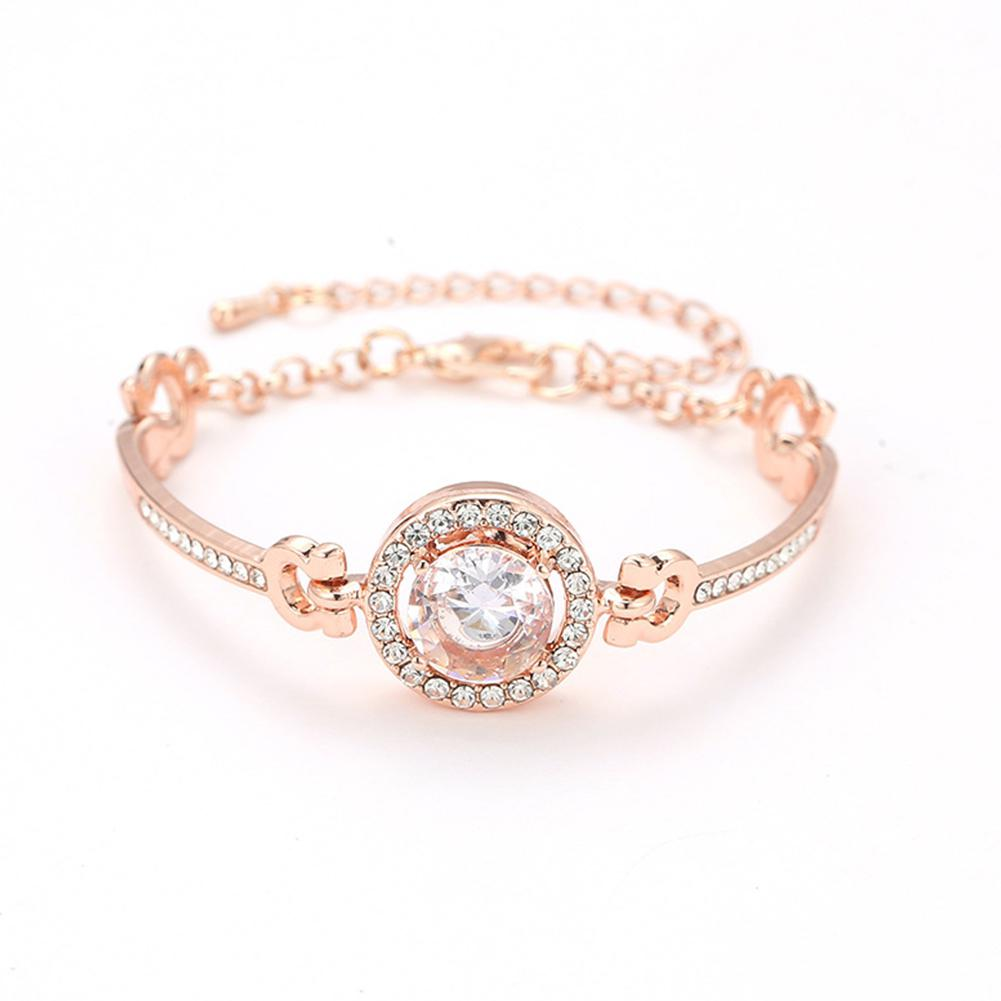 XIUFEN New Women Bangles Silver Gold Color Simple Elegant Shinning Rhinestone Bracelet Female Jewelry 6