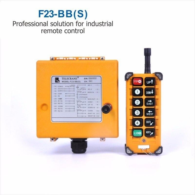 Wholesales Industrial  Remote Control F23-BB Controller 1 Transmitter 1 Receiver 36V 220V 380V AC for Hoist CraneWholesales Industrial  Remote Control F23-BB Controller 1 Transmitter 1 Receiver 36V 220V 380V AC for Hoist Crane